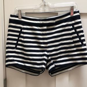 NWT j Crew navy and white stripe shorts